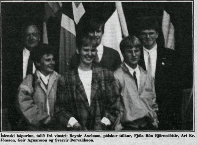 Íslenski hópurinn í Varsjá 1986