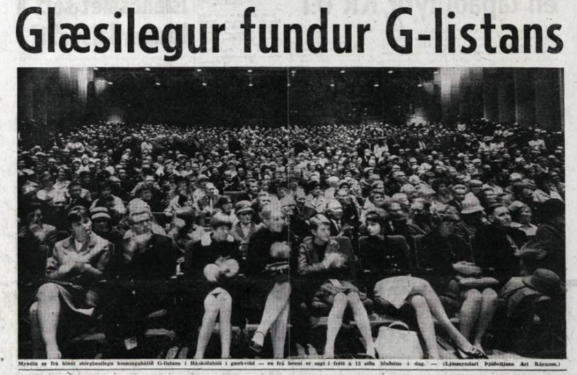 G listi í Háskólabíói 1967