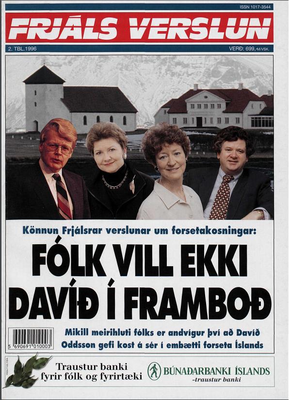 Forsíða FV 2. 1996